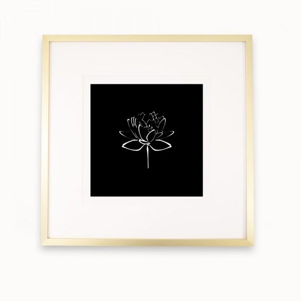 Lotus II | White on Black | mira Gold