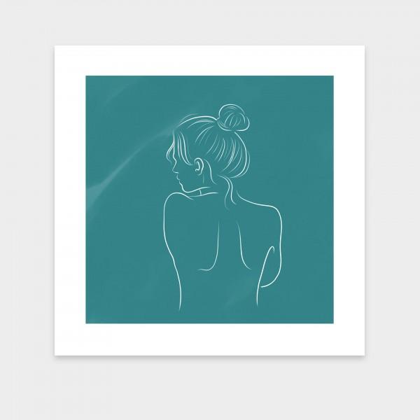female lines I dunkles Blaugrün